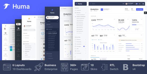 Huma - Bootstrap Business Admin Template by FrontendMatter
