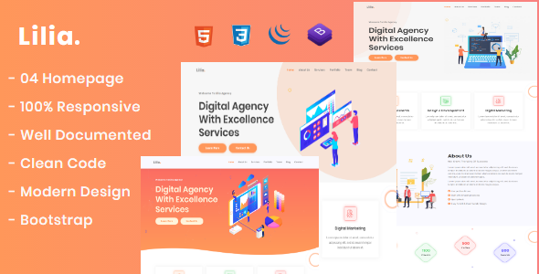 Lilia - Creative Digital Agency HTML Template