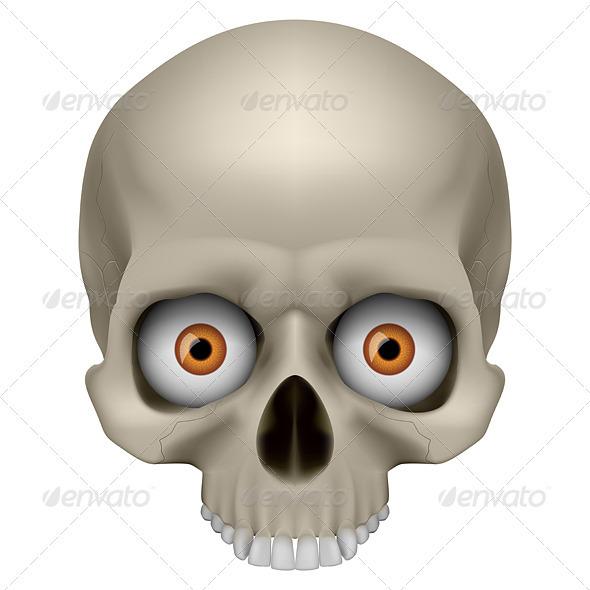 Freaky Human Skull - Monsters Characters