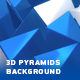 Abstract Blue And White 3D Pyramids Background - VideoHive Item for Sale