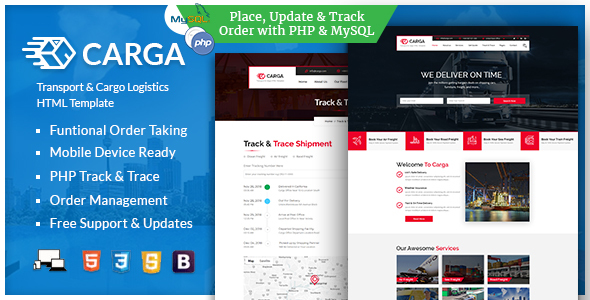 Carga - Transport & Cargo Responsive HTML Template by nauthemes