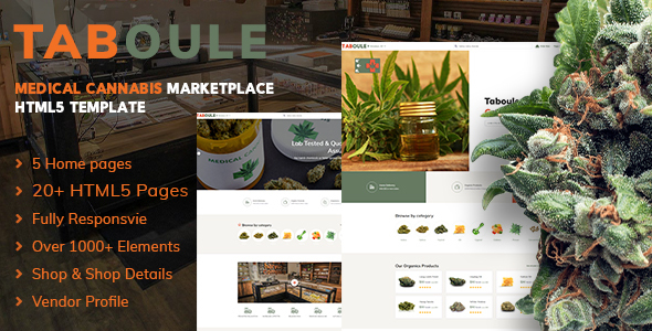 Taboule | Medical Cannabis Marketplace HTML5