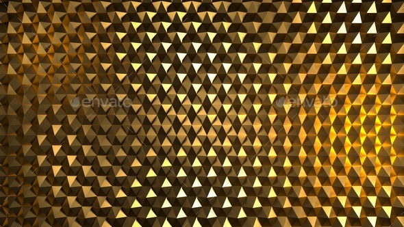 Abstract image of a pattern of yellow hexagons - Stock Photo - Images