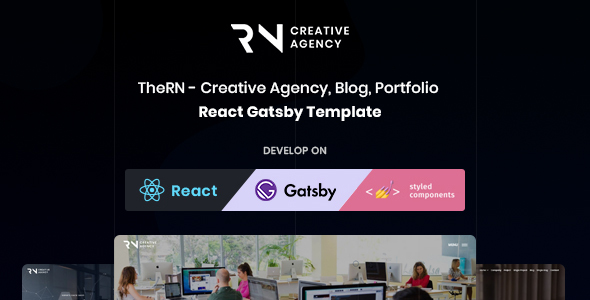 TheRN - React Gatsby Creative Agency & Blog Template