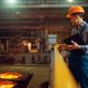 Steelmaker controls steelmaking process on factory - PhotoDune Item for Sale
