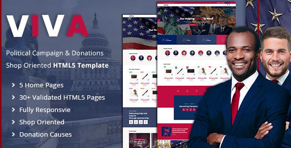 Viva | Political Election Campaign HMTL5 Template