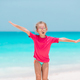 Cute little girl at beach during caribbean vacation - PhotoDune Item for Sale