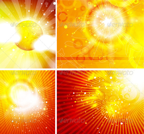 Shiny Sun Backgrounds - Nature Conceptual