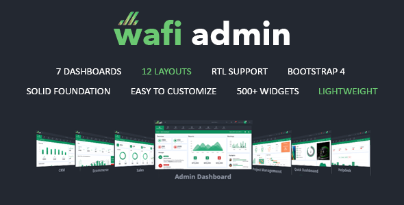 Wafi - Responsive Admin Dashboard Template + RTL by parkerThemes