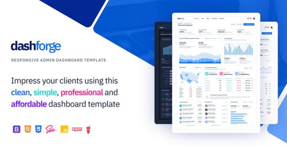 Great Dashforge - Responsive Admin Dashboard Template