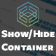 Fusion Builder Show/Hide Container