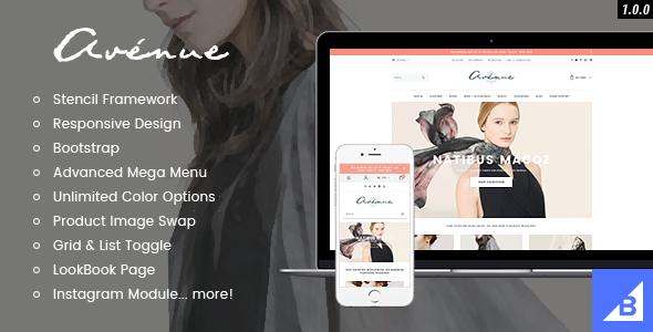 Avenue - Responsive Fashion BigCommerce Theme: Stencil & Google AMP Ready