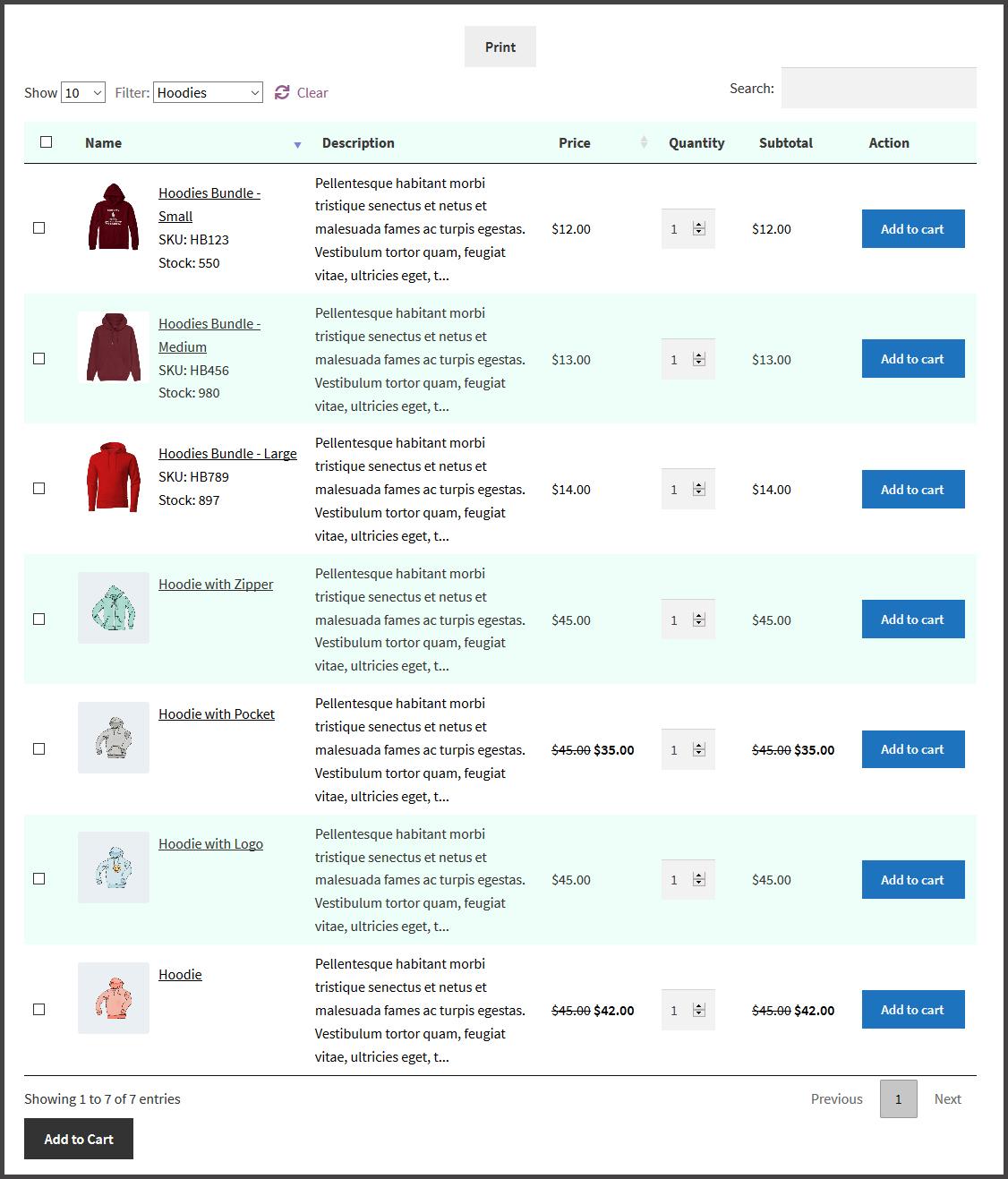 WooCommerce Bulk Shop - Product Bundle Table Plugin - 2