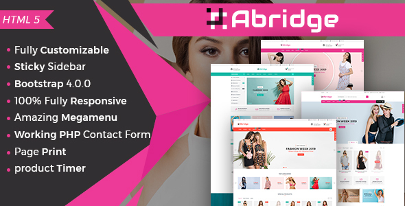 Abridge- Responsive Multipurpose E-Commerce HTML5 Template by aaryaweb