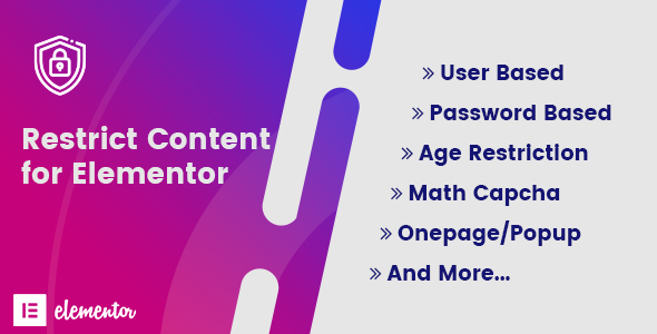 Restrict Content for Elementor
