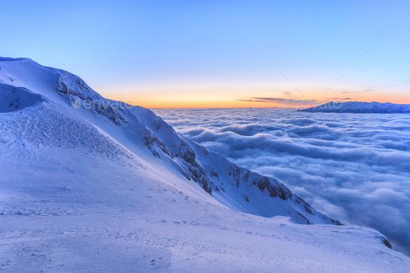 winter mountain landscape - Stock Photo - Images