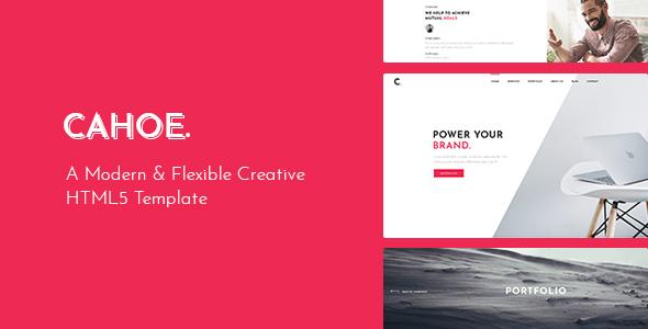 Wondrous Cahoe - Creative Portfolio HTML Template