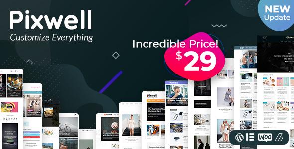Pixwell - Modern Magazine Nulled