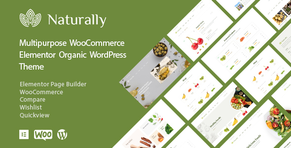Naturally - Organic Food Elementor WooCommerce Theme