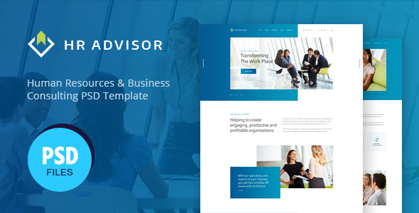HR Advisor   Human Resources & Business Consulting PSD Template