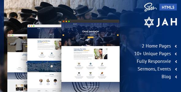 Jah | Jewish Synagogue  HTML5 Template
