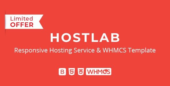 HostLab - Responsive Hosting Service With WHMCS Template by inebur