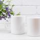 Two coffee mug mockup with mouse peas - PhotoDune Item for Sale