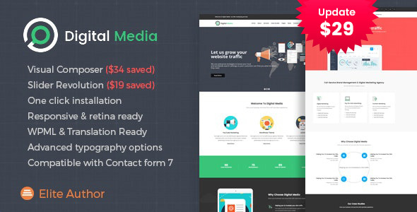 Digital Media - Online Marketing WordPress theme