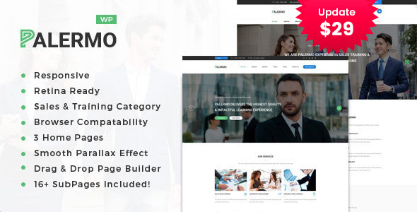 Palermo - Business Consulting and Professional Services WordPress Theme