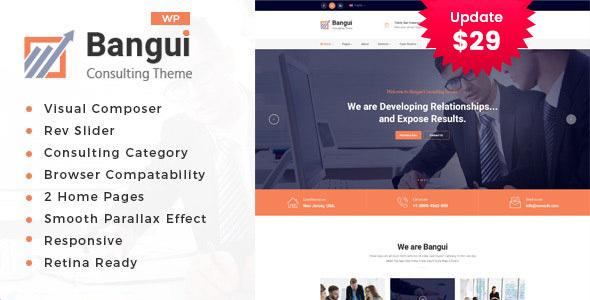 Bangui - Business Consulting WordPress theme