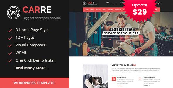 Car RE - Auto Mechanic & Car Repair WordPress Theme