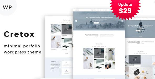 Cretox - Multipurpose Minimal Portfolio WordPress Theme