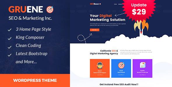 Gruene - Digital Marketing WordPress Theme
