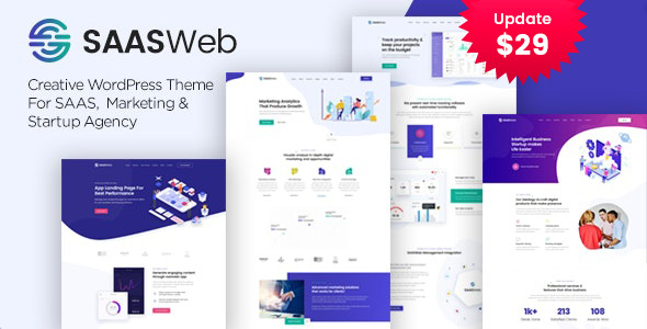 Fabulous Saasweb - WordPress Theme For App & Saas Products