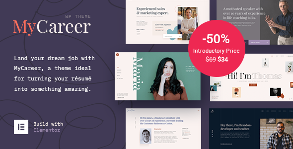 MyCareer - Resume WordPress Theme