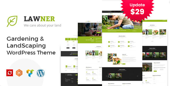 Lawner - Gardening and Landscaping WordPress theme