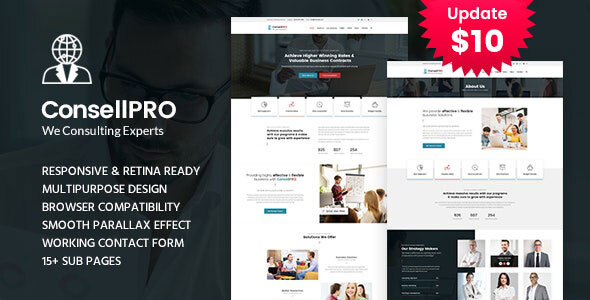 Concell pro - Business Consulting Services HTML Template