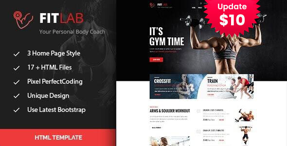 FitLab | Gym & Fitness HTML Template by template_path