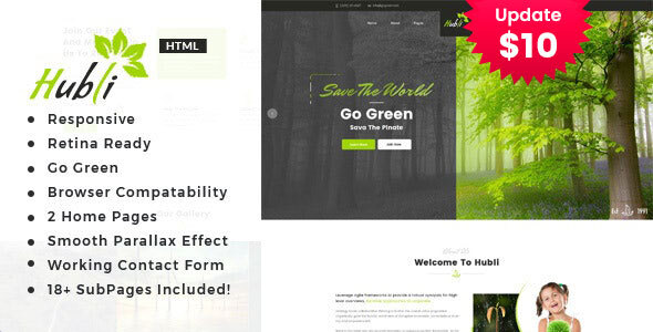 Awesome Hubli - Environment / Non-Profit HTML Template