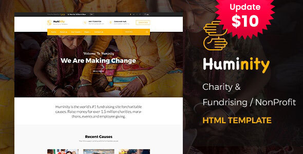 Huminity - Responsive HTML Template for Charity & Fund Raising