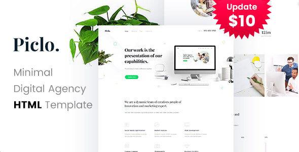 Piclo. - Minimal Digital Agency HTML Template