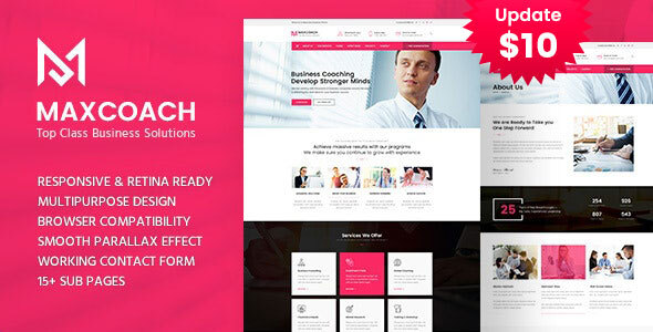 Maxcoach - Business Consulting and Professional Services HTML Template by template_path
