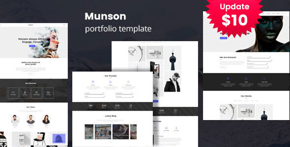 Munson - Minimal Portfolio Template by template_path