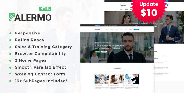 Palermo - Consulting & Business HTML Template