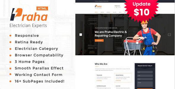 Praha - Electrician Experts HTML Template