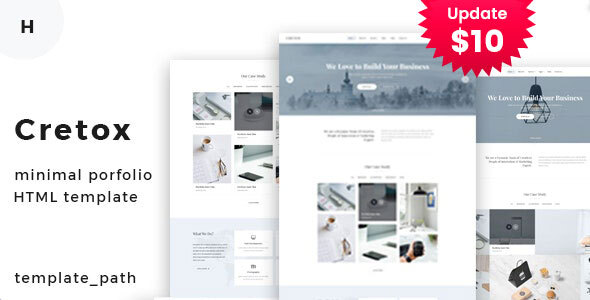 Cretox - Minimal Portfolio Template
