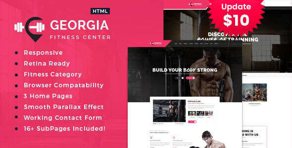 Incredible Georgia | Gym & Fitness HTML Template