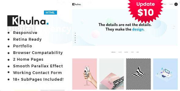 Khulna - Colourful Minimal Digital Agency HTML Template