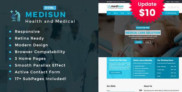 Medisun - Health And Medical HTML Template