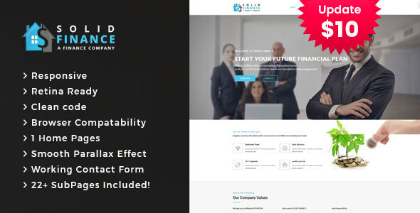 Solid Finance - Consulting Business HTML5 Template
